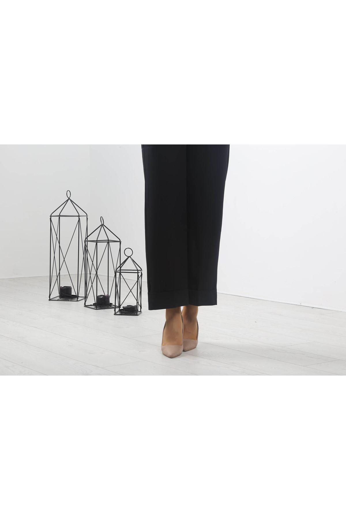 Duble Paça Pantolon - Siyah