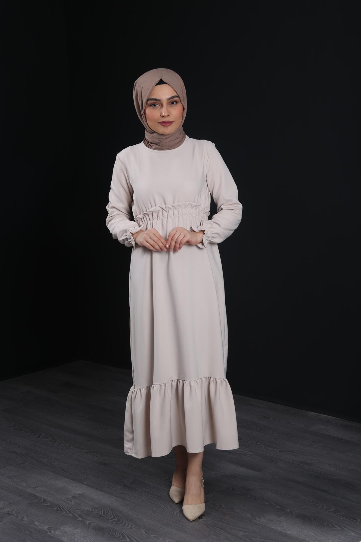Erva Tesettür Elbise - TAŞ