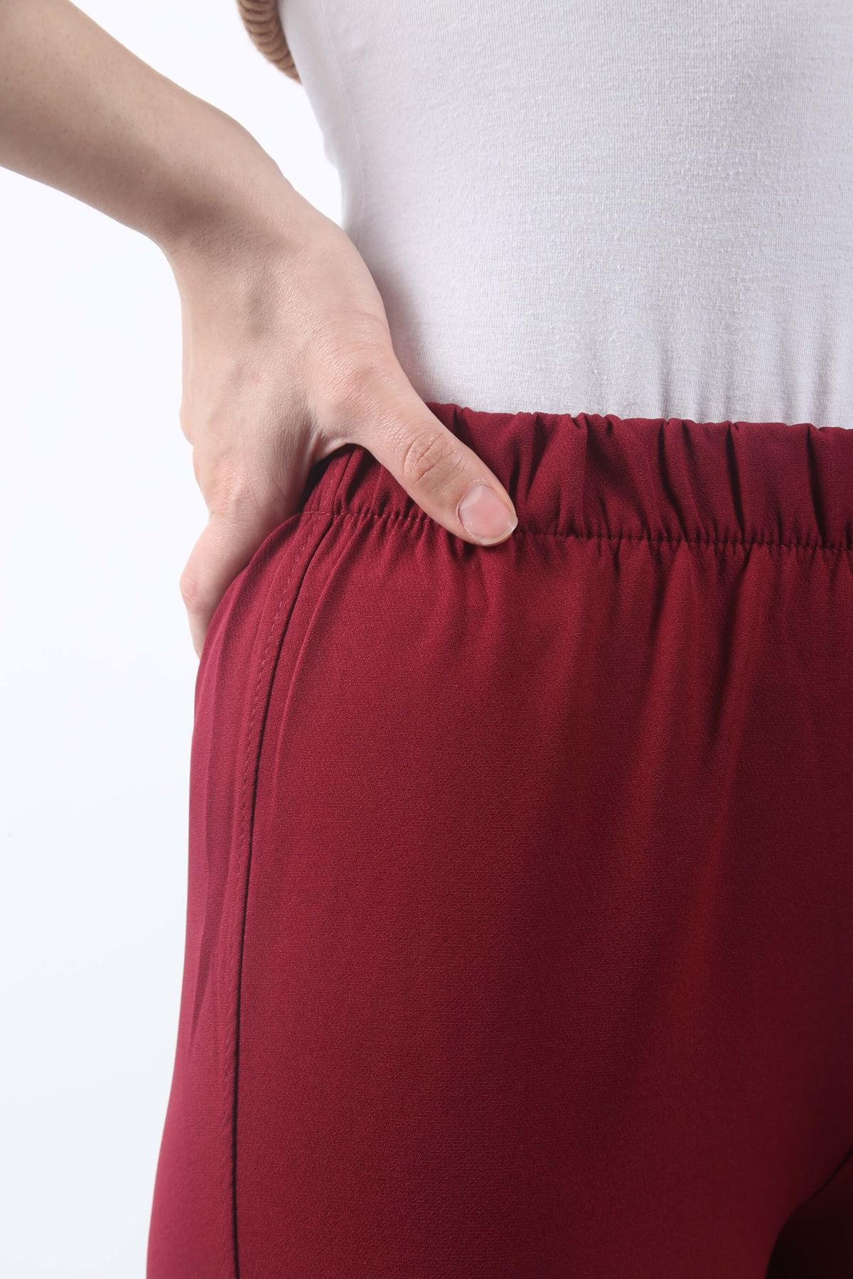 Duble Paça Pantolon - Bordo
