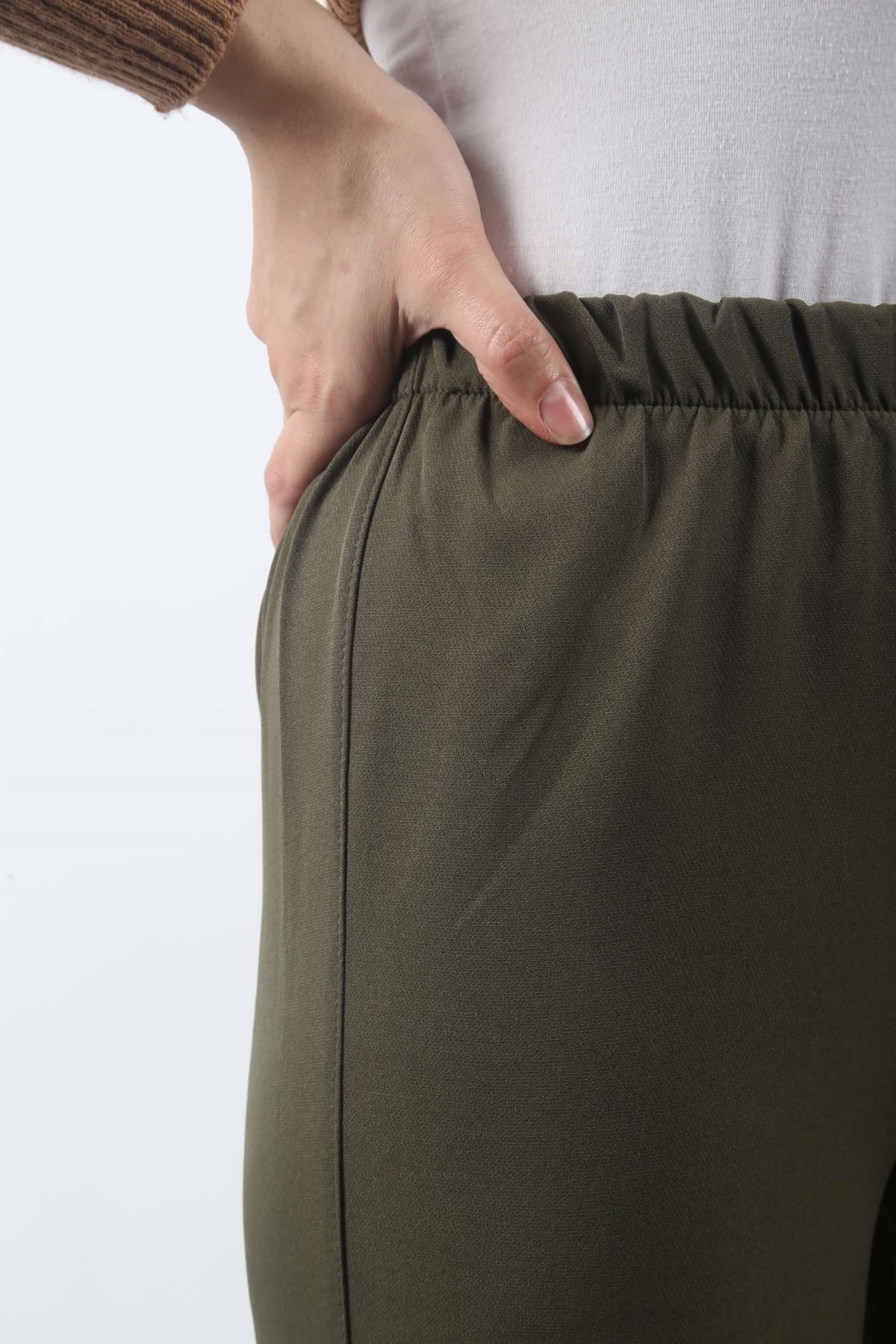 Duble Paça Pantolon - Haki