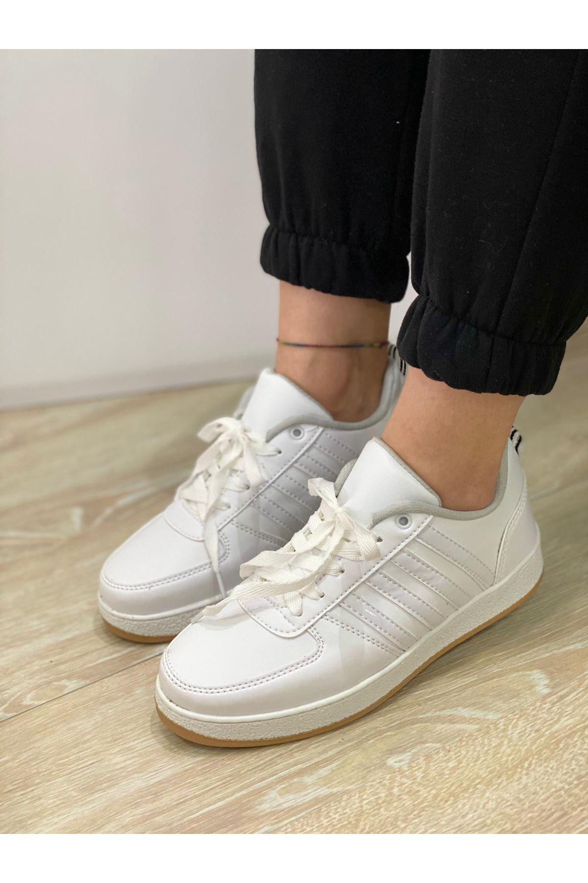 Süperstar Çizgili Spor Ayakkabı - Beyaz