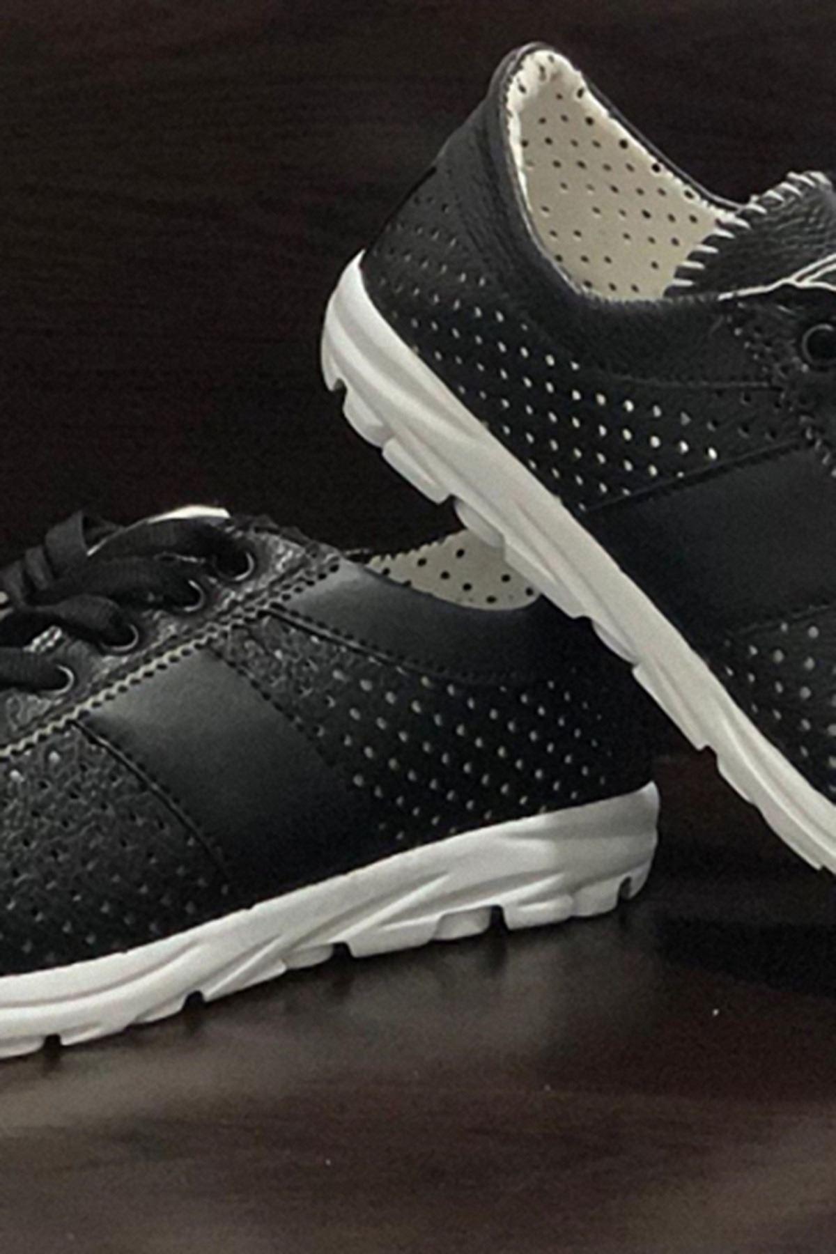 Havalı Spor Ayakkabı - Siyah